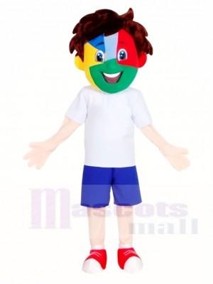 Fußball Ventilator Junge Maskottchen Kostüme Menschen