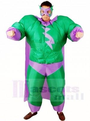 Fett Übermensch Grün Superheld Aufblasbar Halloween Weihnachten Kostüme für Erwachsene