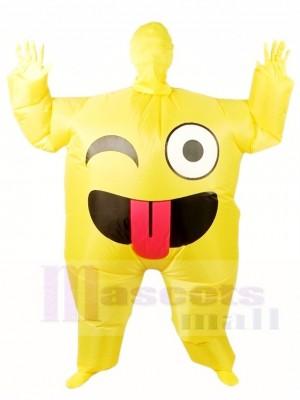 Emoji Lächeln Sie aufblasbare Halloween Weihnachten sprengen Sie Kostüme für Erwachsene