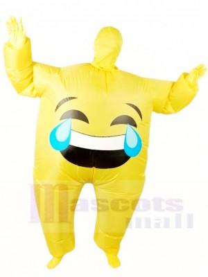 Emoji Schrei aufblasbar Halloween Xmas Blow Up Kostüme für Erwachsene