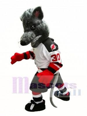 Albany River Ratten Maskottchen Kostüm Eishockey Team Maskottchen Kostüm