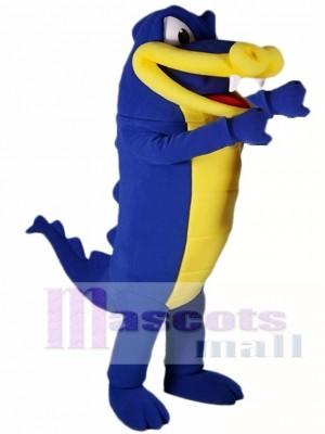 königlich Blau Alligator Maskottchen Kostüm Krokodil Maskottchen Kostüme
