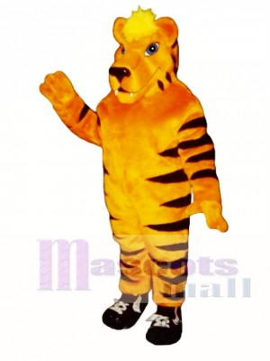Netter Tiger mit Turnschuhen Maskottchen Kostüm