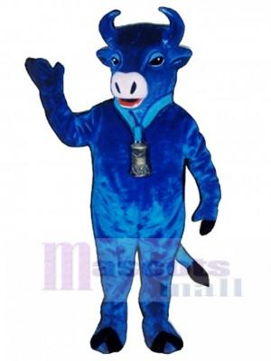 Blau Belle Rinder Maskottchen Kostüm