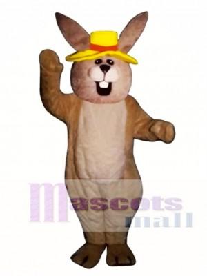 Ostern Jolly Hase Kaninchen mit Hut Maskottchen Kostüm