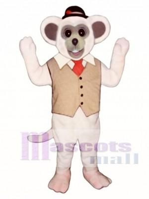 Marty Maus mit Weste und Hut Maskottchen Kostüm