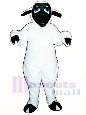 Schwarzes Gesichts-Schaf Maskottchen Kostüm