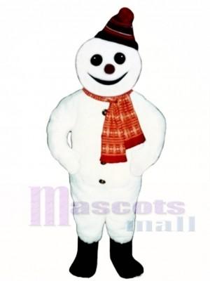 Lächelnder Schneemann mit Hut & Schal Maskottchen Kostüm