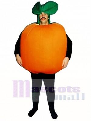 Orange Maskottchen Kostüm Obst