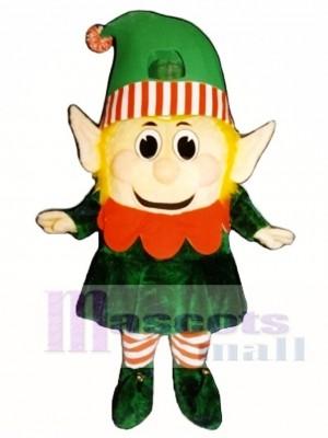 Verrücktes Mädchen Elf Maskottchen Kostüm