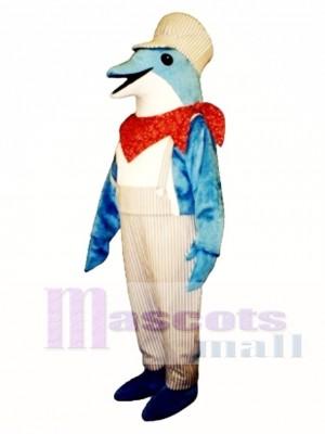 Netter Ingenieur Delfin Maskottchen Kostüm Ozean