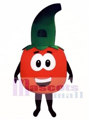 Tomate mit Stamm Maskottchen Kostüm Gemüse