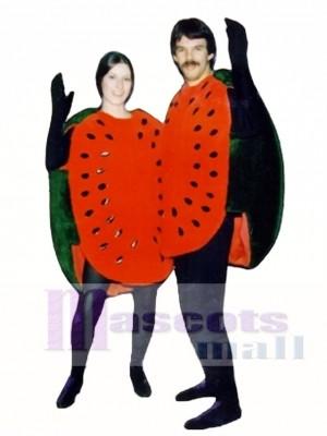 Wassermelone halbe Maskottchen Kostüm Obst