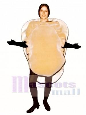 Oyster auf Half Shell Maskottchen Kostüm