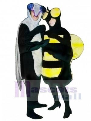 Moskito (auf der Linken) Maskottchen Kostüm