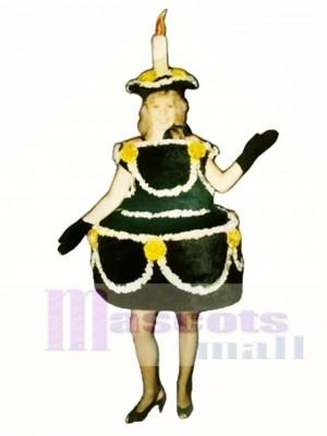 Schwarzer Kuchen Maskottchen Kostüm