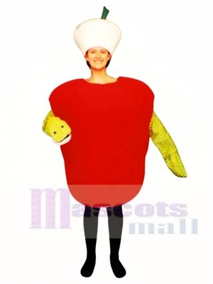 Wurmig Apple Maskottchen Kostüm