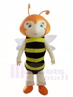 Nettes Bienen Maskottchen kostümiert Insekt