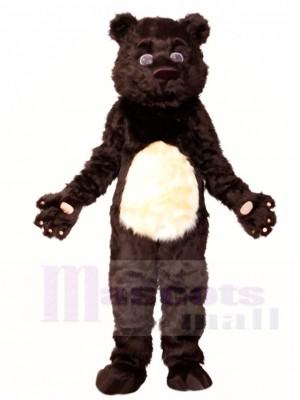 Flauschige Schwarz Bär Maskottchen Kostüme Tier