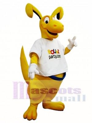 Gelb Känguru Maskottchen Kostüm Roo Maskottchen Kostüme Tier