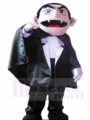 Sesame Street the Count Von Vampire Mascot Costumes