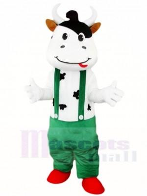 Kuh Maskottchen Kostüme mit Grün Overall Tier