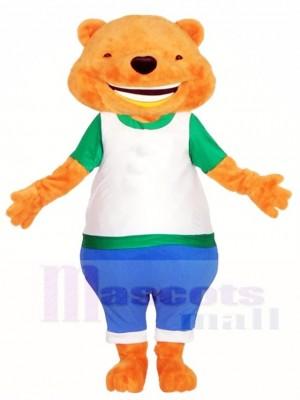 Groß Lächelnd Flauschige Bär Maskottchen Kostüme Tier