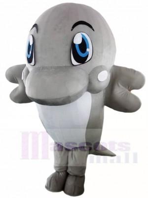 Grau Delphin Maskottchen Kostüme Ozean