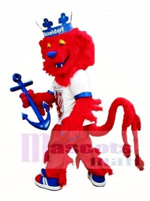 rot Löwe Maskottchen Kostüm König Lion Maskottchen Kostüme