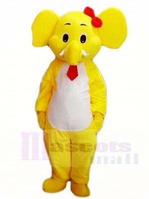 Gelb Elefant Maskottchen Kostüme Tier