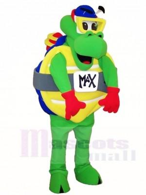 Grün Meeresschildkröte Schildkröten Maskottchen Kostüme mit Schutzbrillen Ozean