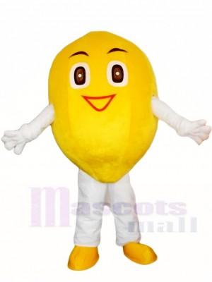 Lächelnde Zitronen Maskottchen Kostüm Frucht