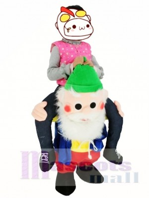 Für Kinder Zurück Schulter Gartenzwerge Tragen Mich Maskottchen Fahrt Kostüme Weihnachten