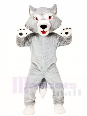Hairy Grey Wolf Maskottchen Kostüme Tier