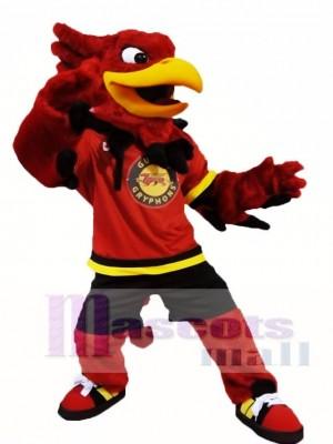 Rote Gryphon Griffin Maskottchen Kostüme