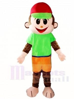 roter Hut Affe Maskottchen Kostüme Tier