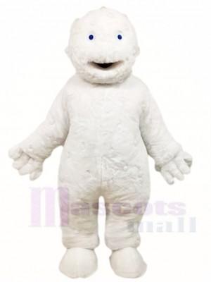 Weiße Bubbleman Maskottchen Kostüm Leute