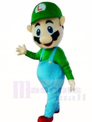 Luigi Maskottchen Kostüme von Super Mario Brothers Cartoon