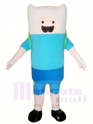 Abenteuer Zeit Finn der Mensch Blauer Junge Maskottchen Kostüme Cartoon