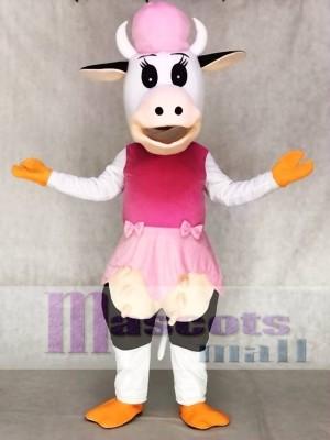 Kuh im rosa Kleid Maskottchen Kostüme Tier