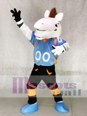 Blaues Hemd Mustang Horse Broncos Maskottchen Kostüme Tier