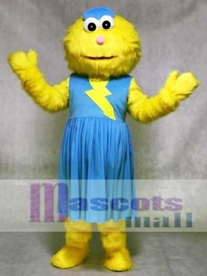 Zoe im blauen Kleid von Sesame Street Maskottchen Kostüm