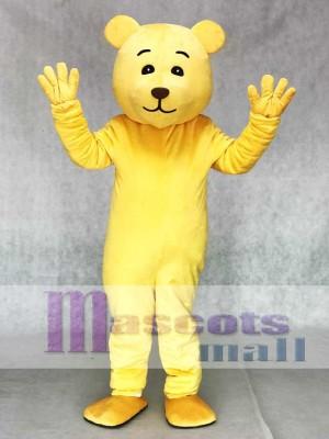 Schöne gelbe Teddy Maskottchen Kostüm Tier