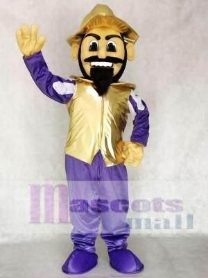 Conquistador Maskottchen Kostüm Menschen