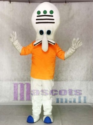 Thaddäus Maskottchen Kostüm Kreatur von Krusty Krabbe SpongeBob Schwammkopf Film