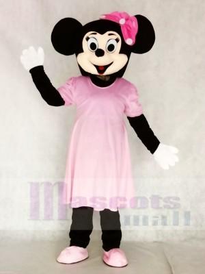 Minnie Maus im rosa Kleid Maskottchen Kostüme Karikatur