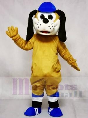Hund im blauen Hut Maskottchen Kostüme Tier