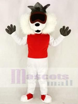 Rote Weste Gasse Katze Maskottchen Kostüme Tier