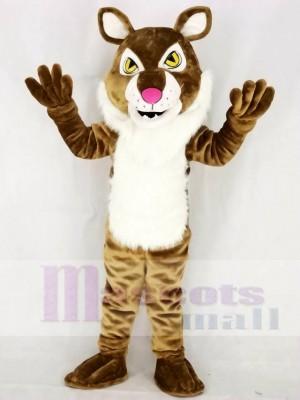 Hellbraunes wildes Bobcat Maskottchen Kostüm Tier