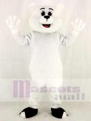 Weißes Eisbär Maskottchen Kostüm Tier